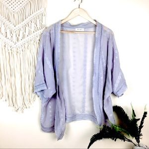 Sweaters - 🆕 Periwinkle Floral Embroidered Kimono